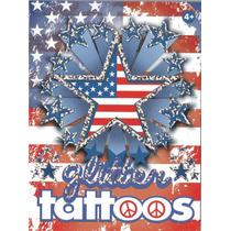 Tatuajes Temporales Patriotic United States Glitter Savvi