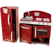 Cocina Cocinita Juego Kidkraft Retro Mini Refrigerador