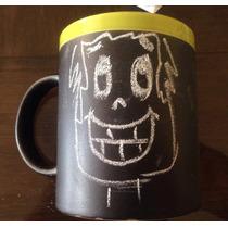 Taza Pizarron De 11 Oz, Dibuja Lo Que Quieras En Ella.