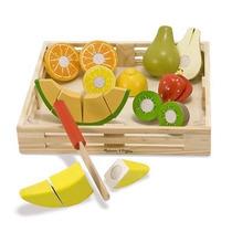 Juego Frutas Madera Juguete Niños Melissa & Doug C/ Cuchillo