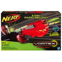 Pistola Nerf Vortex Vigilon De 5 Discos Carga Manual No Pila