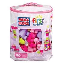 Bolsa Con Bloques Megablocks Rosa