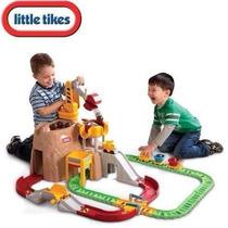 Juego Montaña De Construccion Con Tren Grua Little Tikes