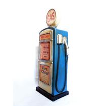 Alcancia Vintage Antiguo Despachador Gasolina Grande Metal