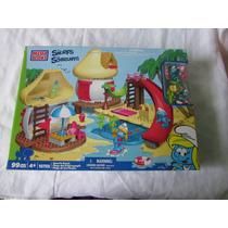 Mega Bloks Playa De Los Pitufos 99 Piezas Original