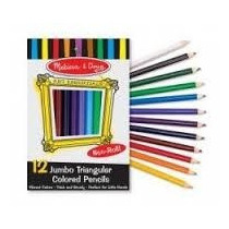 Set De 12 Lápices De Colores Triangulares Jumbo Importados.