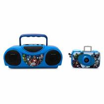 Kit Radio Fm Karaoke + Camara 35mm De Avengers De Sakar