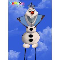 Papalote Olaf Frozen 177 Cm Alto Con Bobinador De Hilo