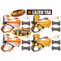 Nerf Lazer Tag Blasters Orange & White Team Pack Gift