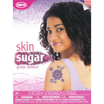 Tatuajes Temporales Skin Sugar Glitter Tattoos Purple Savvi