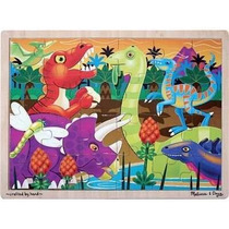 Melissa & Doug Prehistoria Sunset Dinosaurios Jigsaw Puzzle