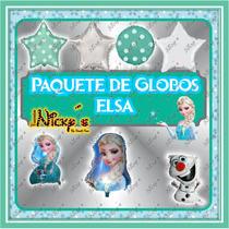Paquete 32 Globos De Elsa De Frozen.para Tus Fiestas,cumples