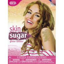 Tatuajes Temporales Skin Sugar Glitter Tattoos Gold Savvi