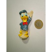 Vintage Mini Pato Donald En Vinil Semi Rígido Aprox 8 Cm.