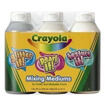 Crayola 8 Oz 3ct Tempera Mixing Medium Surtido