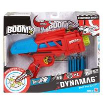 Boomco Dynamag Mattel 6 Dardos 22m Dist. Lanzador Pistola