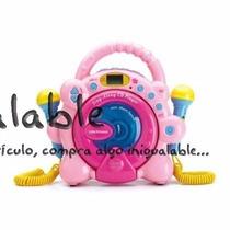 Reproductor De Música Con Microfono Para Niñas Rosa