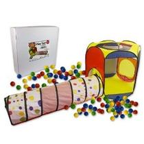 Jugar Carpa Con Túnel Y 100 Balls- Interior Y Exterior Fácil