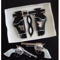 Pistolas Llanero Solitario. Antifaz. Juguete Niño.