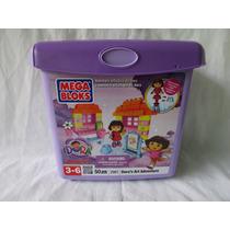 Mega Bloks De Dora La Exploradora Cubeta Con 50 Piezas