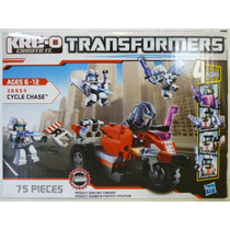 Cycle Chase Transformers Kre O #36954 75 Piezas Barricade