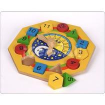 Juguetes Didáctico: Reloj Con Figuras Geométricas