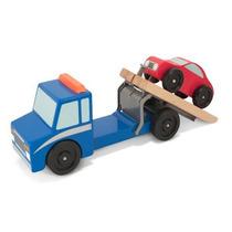 Grúa Tipo Plataforma Movible Con Auto Madera Melissa & Doug