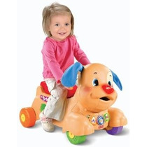 Fisher Price Perrito Riding Juguete Andador Luces Y Aprender