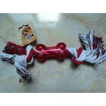 Juguete Para Perro Hueso De Hilo 21cm Con Hueso De Plastico