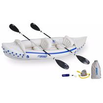 Kayak Inflable De Lujo Sea Eagle Remos Bomba Y Bolsa