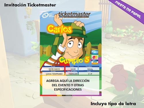 Invitaciónes Infantiles Del Chavo Animado Para Editar Imagui