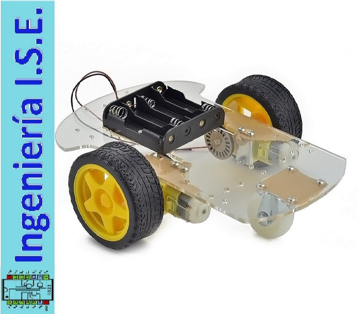 Kit chasis carro robot wd para arduino pic ¡ sé el mejor