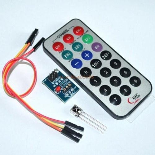 Kit control remoto infrarrojo más receptor khz arduino