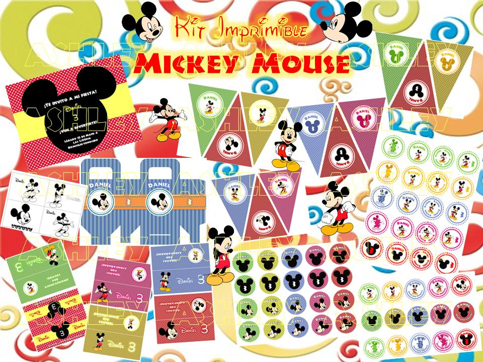 Kit imprimible Mickey bebé - Imagui