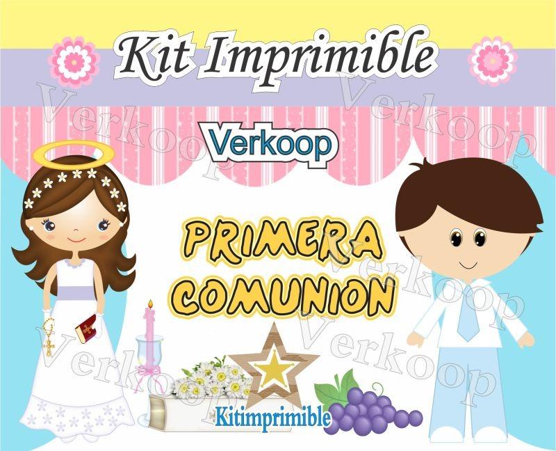 Kit Imprimible Primera Comunion Niña Y Niño Souvenirs Nene - $ 180