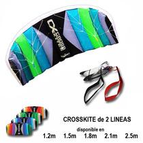 Kite 2.5m Dos Lineas - Papalote Dos Lineas Parque Y Playa