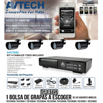 Avtech Avc792dbkitpak- Incluye Dvr 4 Canales Avc792db/4 Bull