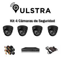 Kit Completo 4 Camaras De Seguridad Domo - Cctv - Vigilancia