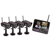Sistema De Videovigilancia Inalambrica De 4 Camaras Cctv 980