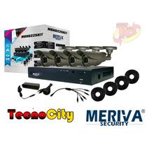 Kit Meriva Con Dvr De 4 Canales Y 4 Cámaras De Seguridad