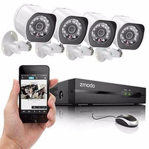 Kit Seguridad Zmodo Zp-ke1h04-s Nvr Spoe 4 Hd 720p Night Vis