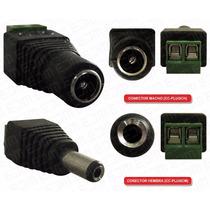 Conector De Corriente Mini Plug Cctv Macho O Hembra 2.5mm