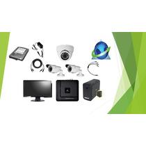 Kit Cctv Dvr Videovigilancia 3 Camaras + Equipo De Monitoreo