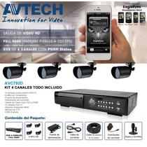 Avtech Avc792dkit- Kit Dvr De 4ch Full 960h/salida De Video