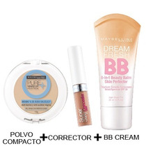 Kit Maybelline Divina - Medio (bb Cream + Corrector + Polvo)