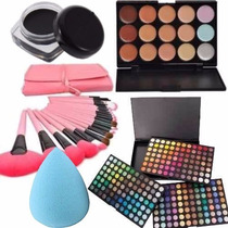 Kit Maquillaje Calidad Mac 252 Sombras 15 Corrector 24brocha