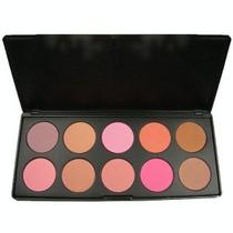 Paleta/set Contorno 10 Rubor/blush/iluminador/bronceador.