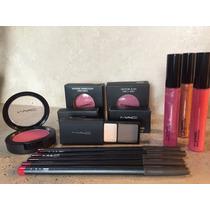 Mac Paquete 4pzs Blush, Gloss, Contorno Para Labios Y Sombra