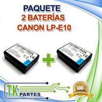 Kit Dos Baterías Canon Lp-e10 Eos 1100d Eos Kiss X50