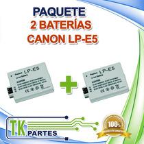 Kit Dos Baterías Canon Lp-e5 Eos 1000d 450d 500d Digital